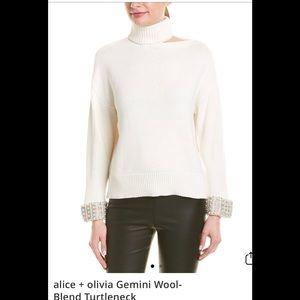 Alice + Olivia Gemini Wool-Blend Turtleneck